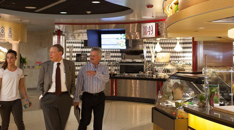 Bud Selig inside Four Lakes Market