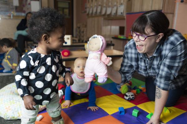 Children in the Azhar Room in Eagle's Wing Child Care.