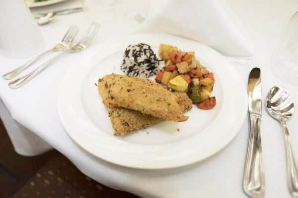 Fish entree from Dining & Culinary Services Buffet Menu.
