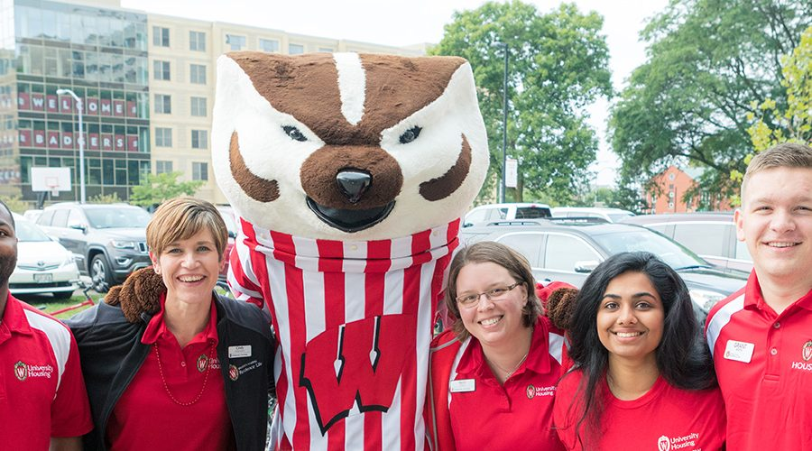 Housing staff with Bucky