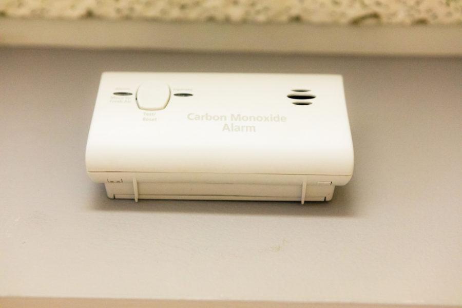 A carbon monoxide detector.