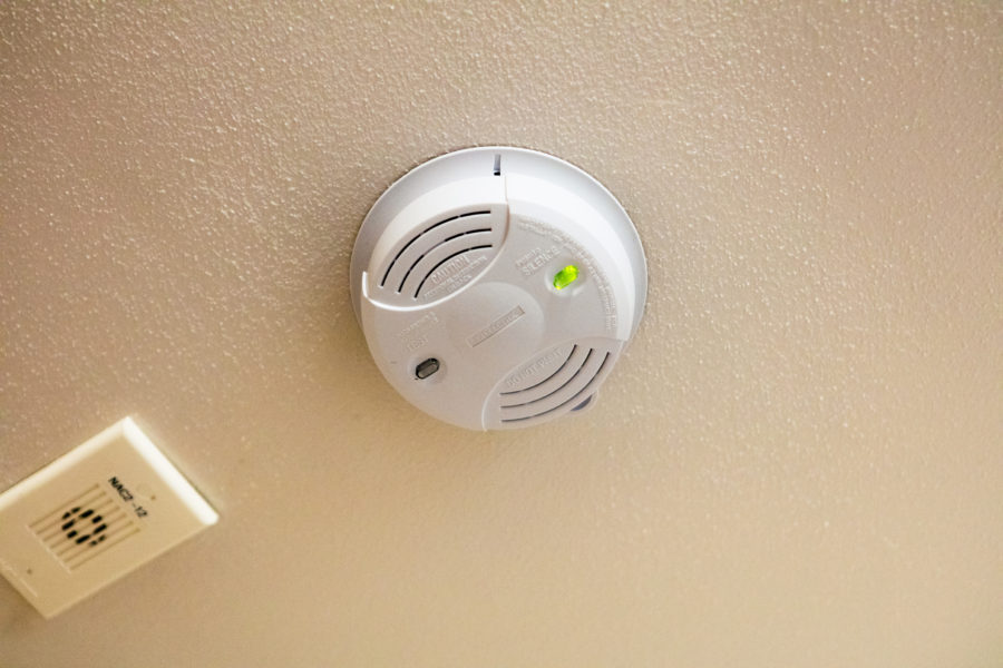 smoke detector in University Apartments