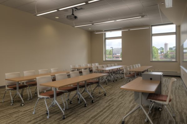 Classroom in Dejope Hall.