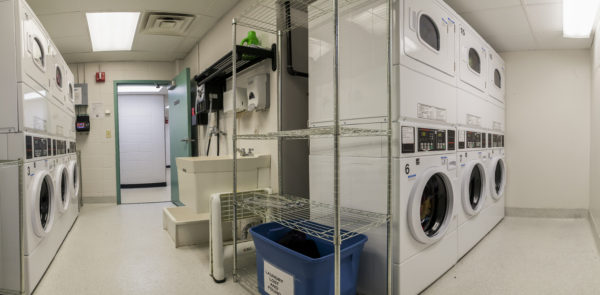 Cole Hall laundry facilities.