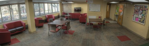 1st floor den in Cole Hall.