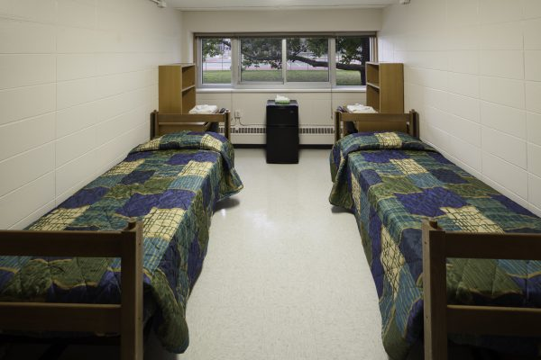 Guest accommodations in Cole Hall.