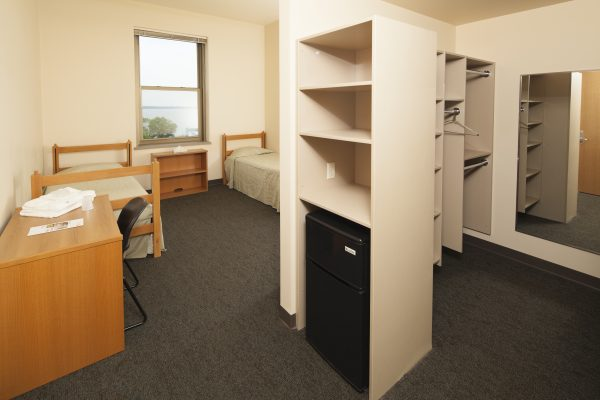 Another view of guest accommodations in Dejope Hall.