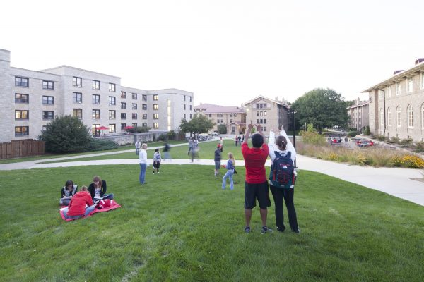 Green space between Slichter and Carson Gulley Commons.