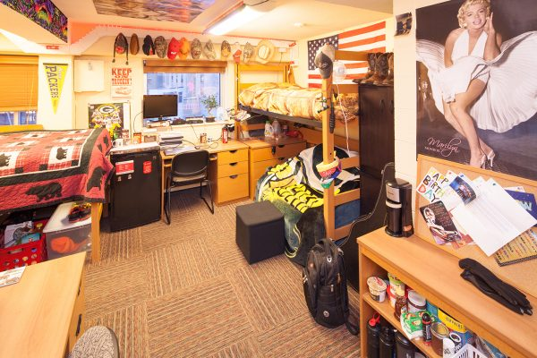 Best Room Contest finalists' room in Phillips Hall