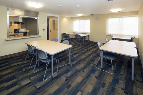 Chadbourne meeting room with attached kitchen.