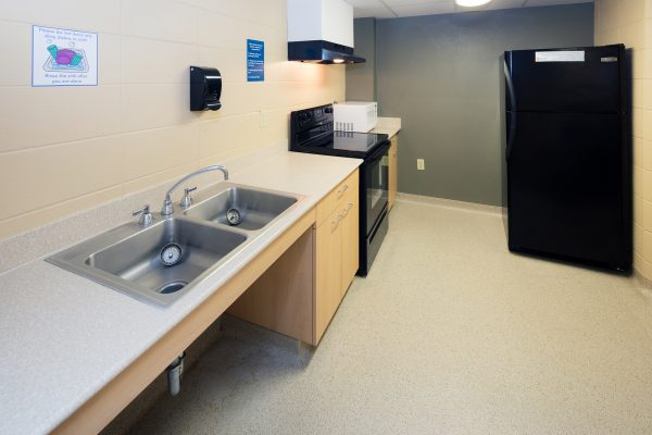 kitchenette in Chadbourne Hall