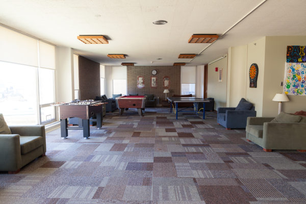 Inside of Witte Hall before construction