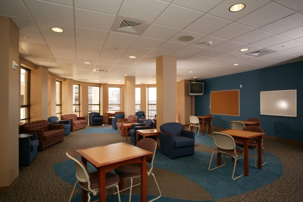 A large study room in Smith Hall.