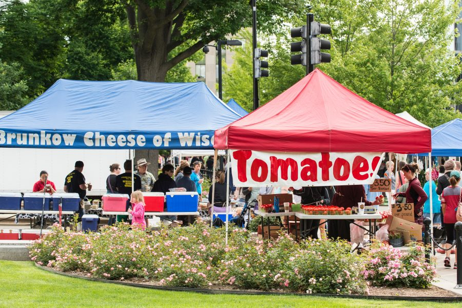 Stands at Dane County Farmers' Market