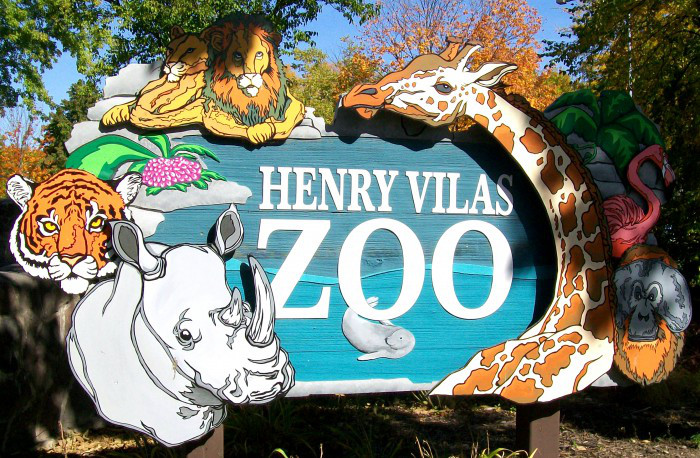 Sign at Henry Vilas Zoo