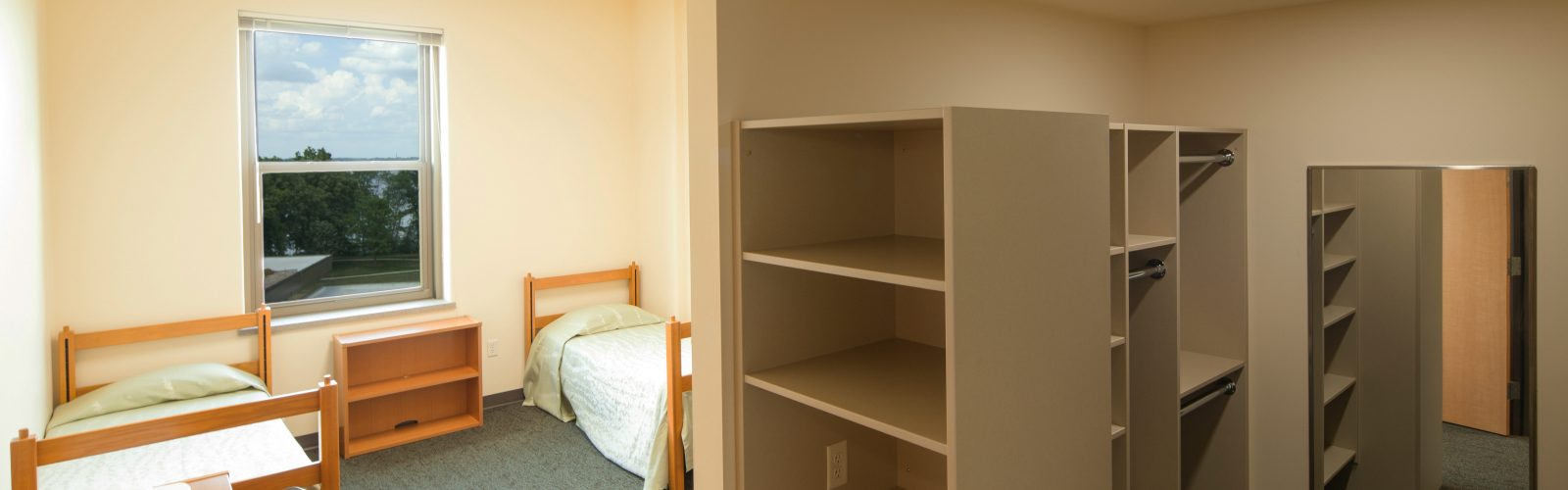 Guest accommodations in Dejope Hall.