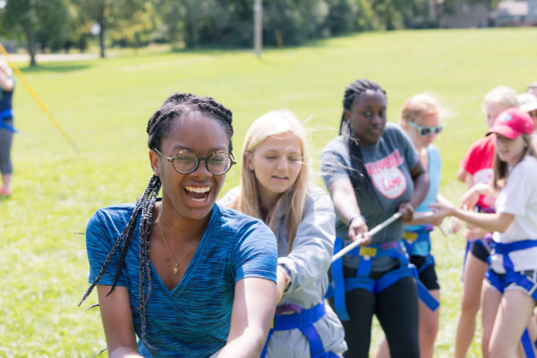 WISE residents enjoy participating in a ropes course