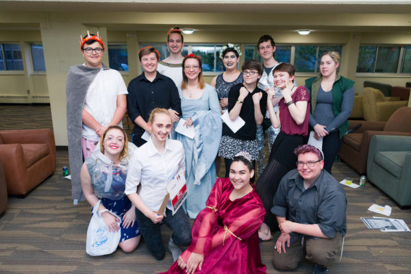 Open House residents posing at their medieval murder mystery party