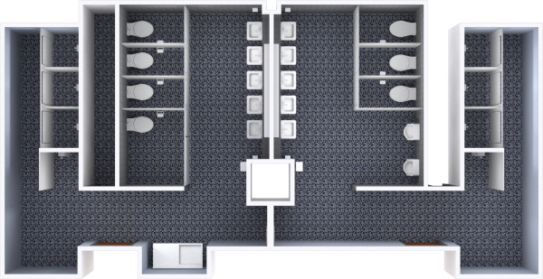 A 2d layout view of a bathroom in Witte.