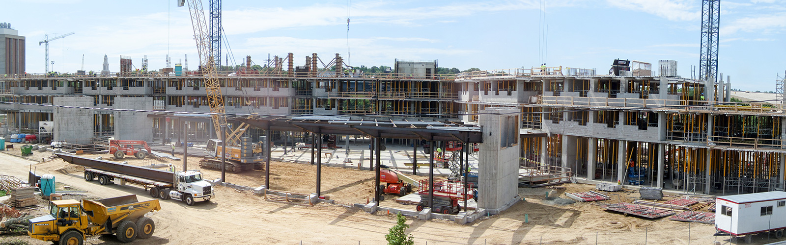 Dejope Residence Hall under construction