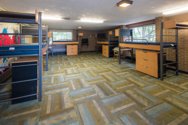 Expanded housing room in Witte Residence Hall