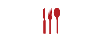 Knife, fork, and spoon icon