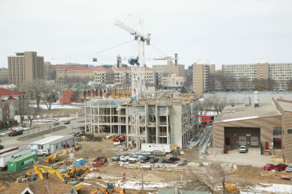 Smith Residence Hall construction in 2005