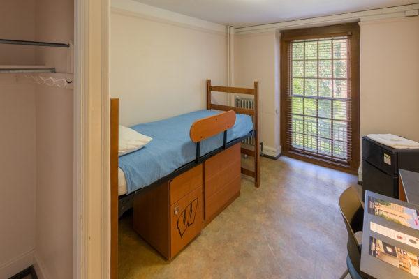 Barnard resident room after renovation in 2017