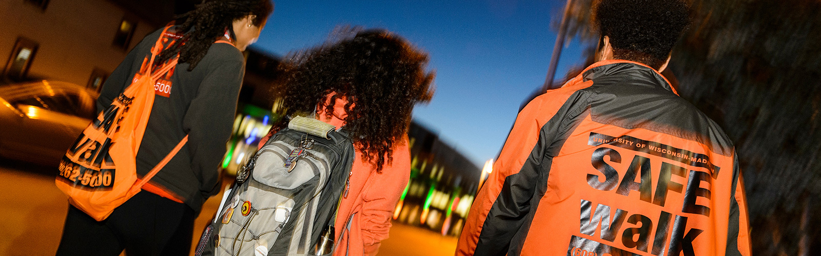 SafeWalk escorting a student at night