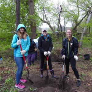 Students Participating in Lakeshore Preserve