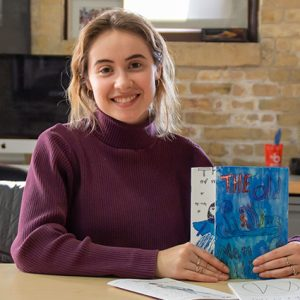 Masha Vodyanyk, a senior at the University of Wisconsin–Madison and a First Wave Scholar, has spent her Saturday mornings providing art lessons to young kids at the Eagle Heights Community Center.